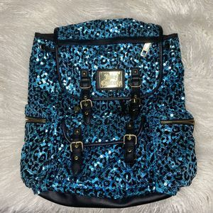 Juicy Couture Cheetah Sequin Backpack